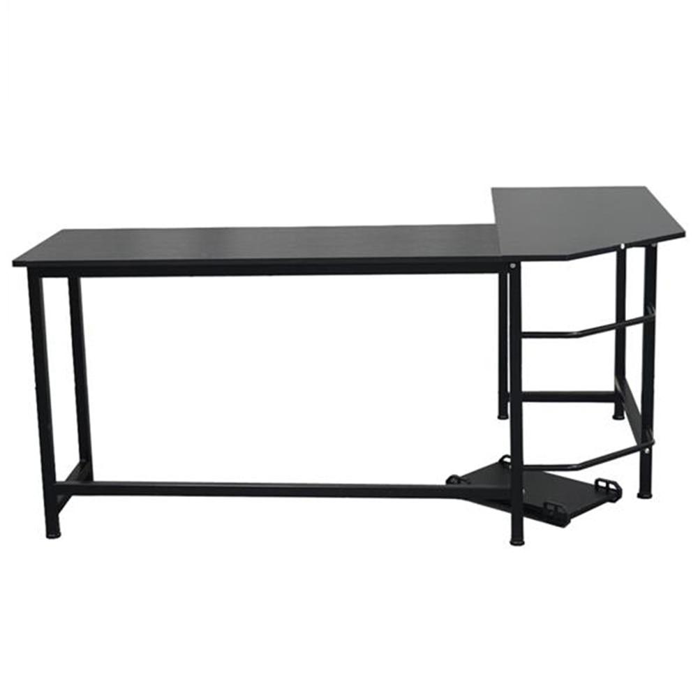 L-Shaped Desktop Computer Desk Black Office Desk Simple Morden Computer Desk