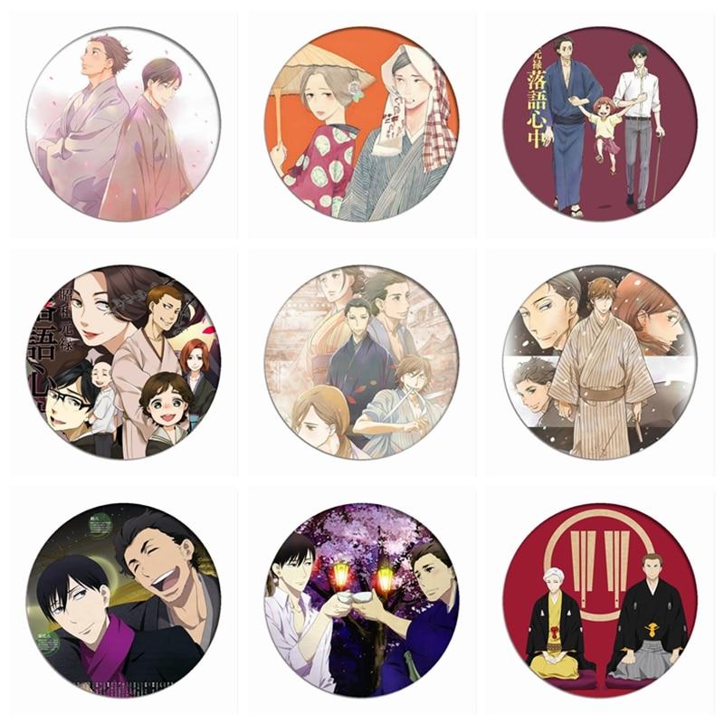 Shouwa Genroku Rakugo Shinjuu Cosplay Badges Yotarou Brooch Icon Collection Bags Yakumo Breastpin For Backpacks Clothing