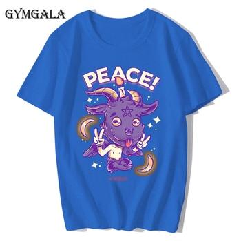 100% cotton anime cartoon Geng ghost printed men's T-shirt summer cotton short-sleeved T-shirt fashion tops tee men's clothing f - XQ-131blue, Asian size XXL