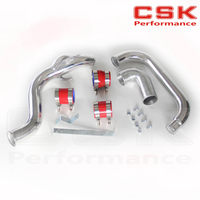 Front Mount Intercooler PIPE Piping Kit FOR Nissan SILVIA S14 S15 200SX 240SX SR20DET RED