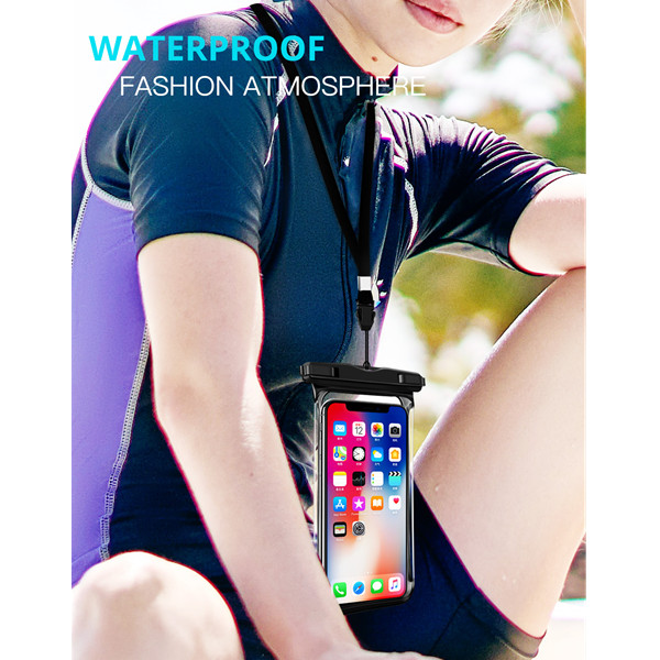 H47cf9488bdcf4147abf1071338313665R - Full View Waterproof Swimming Pouch Case for Phone Underwater Snow Rainforest Transparent Dry Bag Big Mobile Phone Bag Sealed