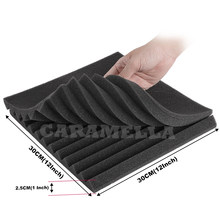 24PCS 300x300x25mm Studio Acoustic Panel Foam Sound Foam Sound Proofing Protective Sponge Soundproof Absorption Treatment Panel