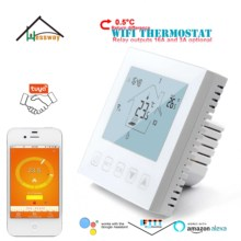 HESSWAY 0.5°C difference google home control wifi room thermostat for 16A 3A  NO NC dry contact relay