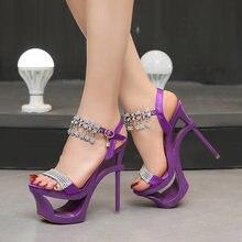Новые пикантные Водонепроницаемые босоножки на высоком каблуке
