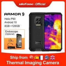 Ulefone armor 9 câmera térmica áspera do telefone móvel android 10 smartphone helio p90 octa-core 8gb + 128gb telefone móvel 6600mah 64m