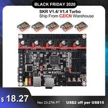 BIGTREETECH SKR V1.4 BTT SKR V1.4 Turbo 32Bit kurulu 3D yazıcı parçaları SKR V1.3 SKR 1.4 MKS SGEN L TMC2209 tmc2208 Ender3 yükseltme