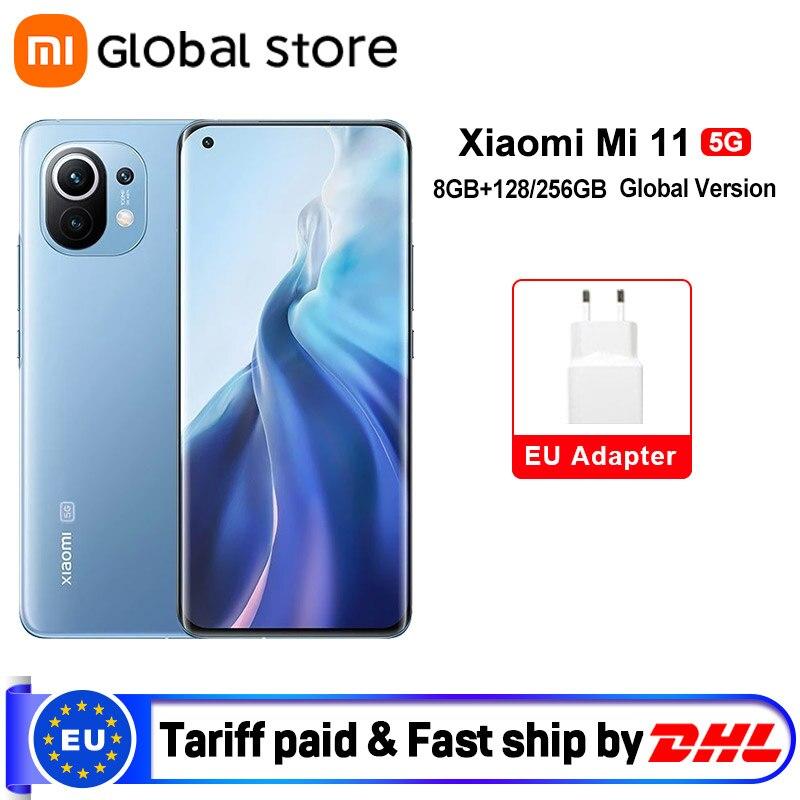 Global Version Xiaomi Mi 11 Smartphone 8GB RAM 128GB /256GB ROM Snapdragon 888 Octa Core 55W Fast Charge 120Hz AMOLED Cellphones  - AliExpress