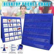 Pocket-Chart Educational-Tools Teaching Classroom Children for Home Kids Desktop Foladble