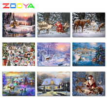 Zooya Cross Stitch Lukisan Berlian Persegi Santa Claus Dijual Diamond Bordir Full Set Ikon Berlian Mosaik Lukisan Zh001(China)