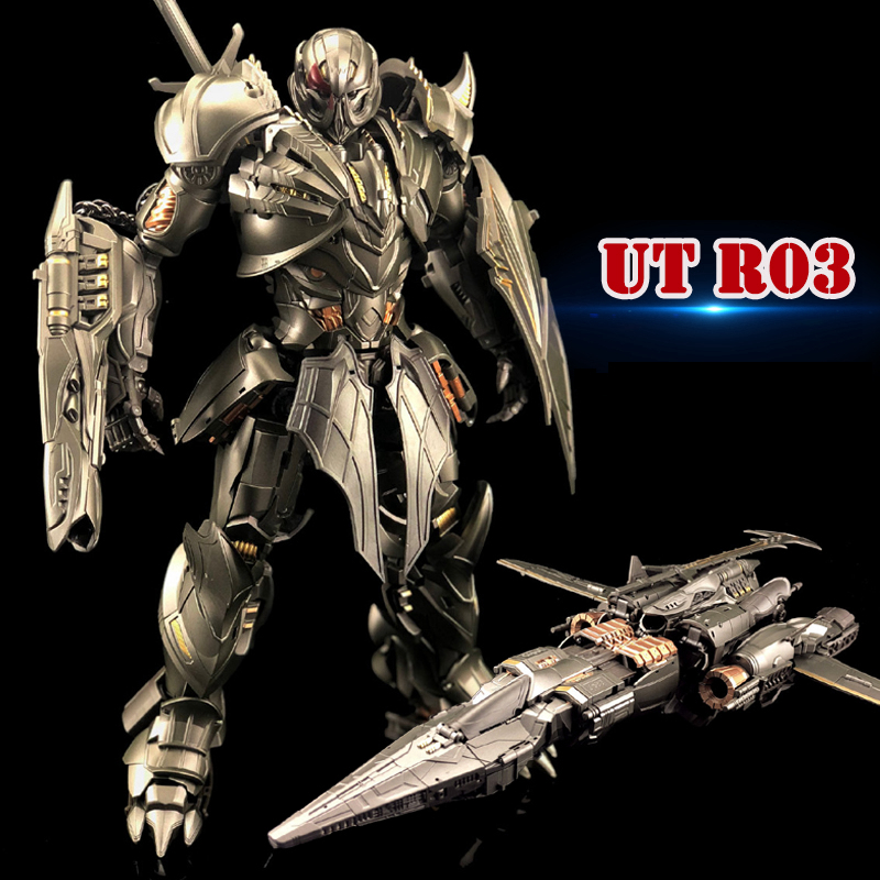 Unique Toys Transformaton UT R03 R-03 Knight Warrior Movie Alloy <font><b>Action</b></font> <font><b>Figure</b></font> Robot Deformation Toys Gifts image