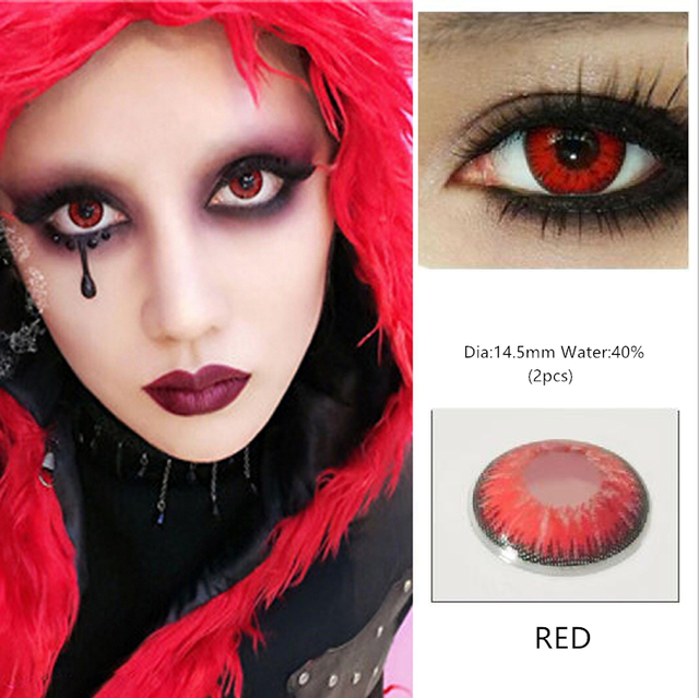 EYESHARE 1 Pair  Beautiful Pupil  Eye Cosmetic Colorful Contact Lens Halloween Cosplay Lenses Crazy Lens for Eyes 5