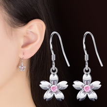 Korean Style Flower Long Earrings For Women New Fashion Sweet Femme Brinco Wholesale Jewelry latest design earrings