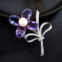 Fashion Butterfly Brooches Insect Crystal Dragonfly Brooch Women Suit Dress Pins and  CH19BRO814/15
