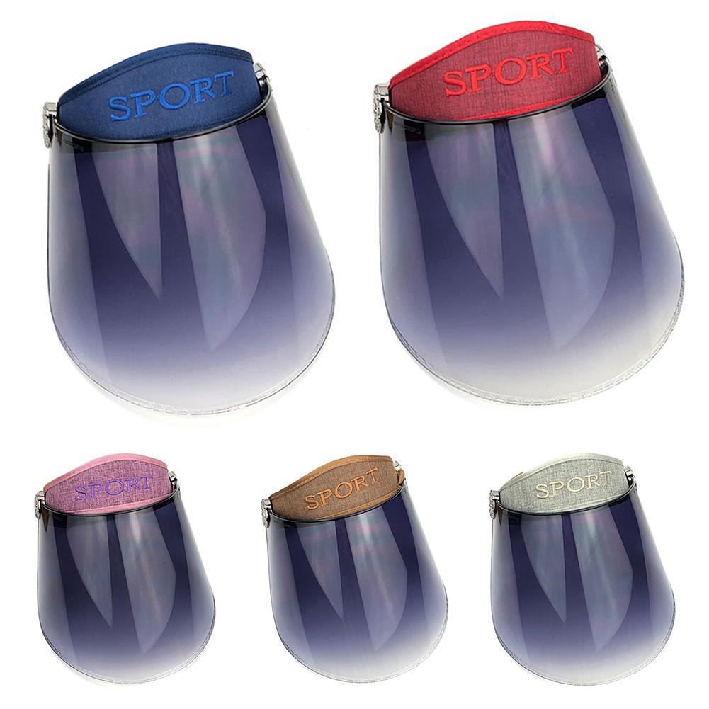 Adjustable Visor Cap Detachable Plastic Visor Sun Hat Anti-UV Visors Cap Anti-Spitting Full Face Cover Visors Face Visor Shield