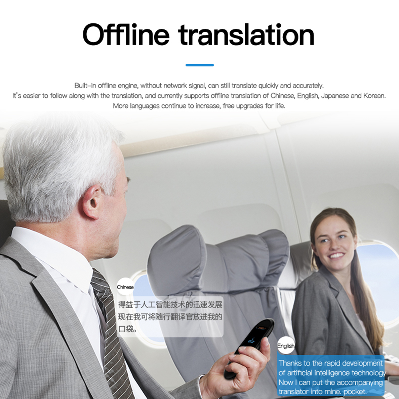 Voice and Photo Scanning Pocket Language Translator with 2.4 Inch Touch Screen and WIFI Supports 79 Languages and Offline Translation 4