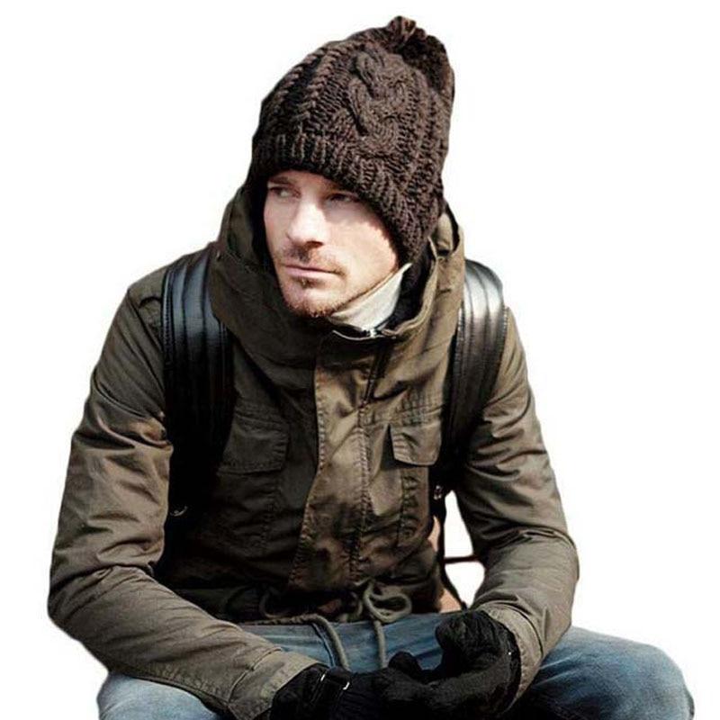 New 2018 Men's Winter Hats Beanie For Women Cap Pompom Bonnet Men Twist Knitting Wool Ear Warm Hat Skullies
