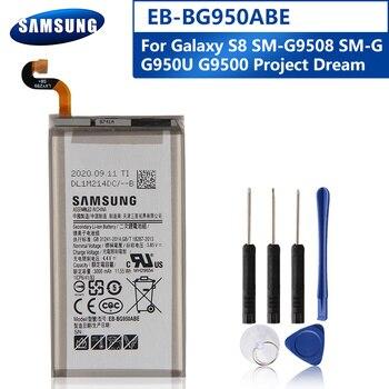Samsung Original EB-BG950ABE Battery For Samsung GALAXY S8 SM-G9508 G9500 G950U EB-BG950ABA Replacement Phone Battery 3000mAh battery original for samsung galaxy s8 eb bg950abe sm g9508 g9500 g950u li ion replacement batteria akku