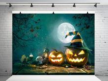 цены VinylBDS 10x10ft  Night Halloween Photography Backdrops Children Backgrounds For Photography Moon Backgrounds For Photo Studio