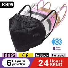 6-Layers FILTER Masks FFP2 Protective-Mask-Approved Mascarillas Breathable KN95 Dustproof