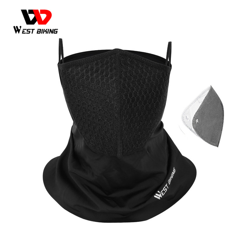 WEST BIKING Summer Sports Scarf With Activated Carbon Filter Anti Pollution Anti-UV Breathable Running Bandana Cycling Headwear(China)