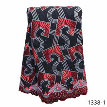 5Yards African Lace Fabric With Stones Embroiderey Swiss Voile Lace In Switzerland For Nigerian Man&Woman Cloth Material 1338