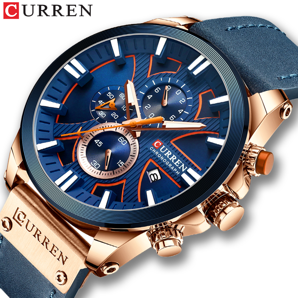 Relogio Masculino CURREN 2019 Fashion Mens Sport Watch Men Analog Quartz Watches Male Military Sport Watch Leather Quartz Watch