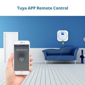 Image 5 - FUERS Wireless GSM Home Security Alarm System Kit Tuya Smart Life APP Control Burglar Smart Alarm Motion Detector Smoke Sensor