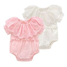 Summer Newborn Baby Girl Rompers Cotton Girls Clothing Princess Tassel Jumpsuit Playsuit