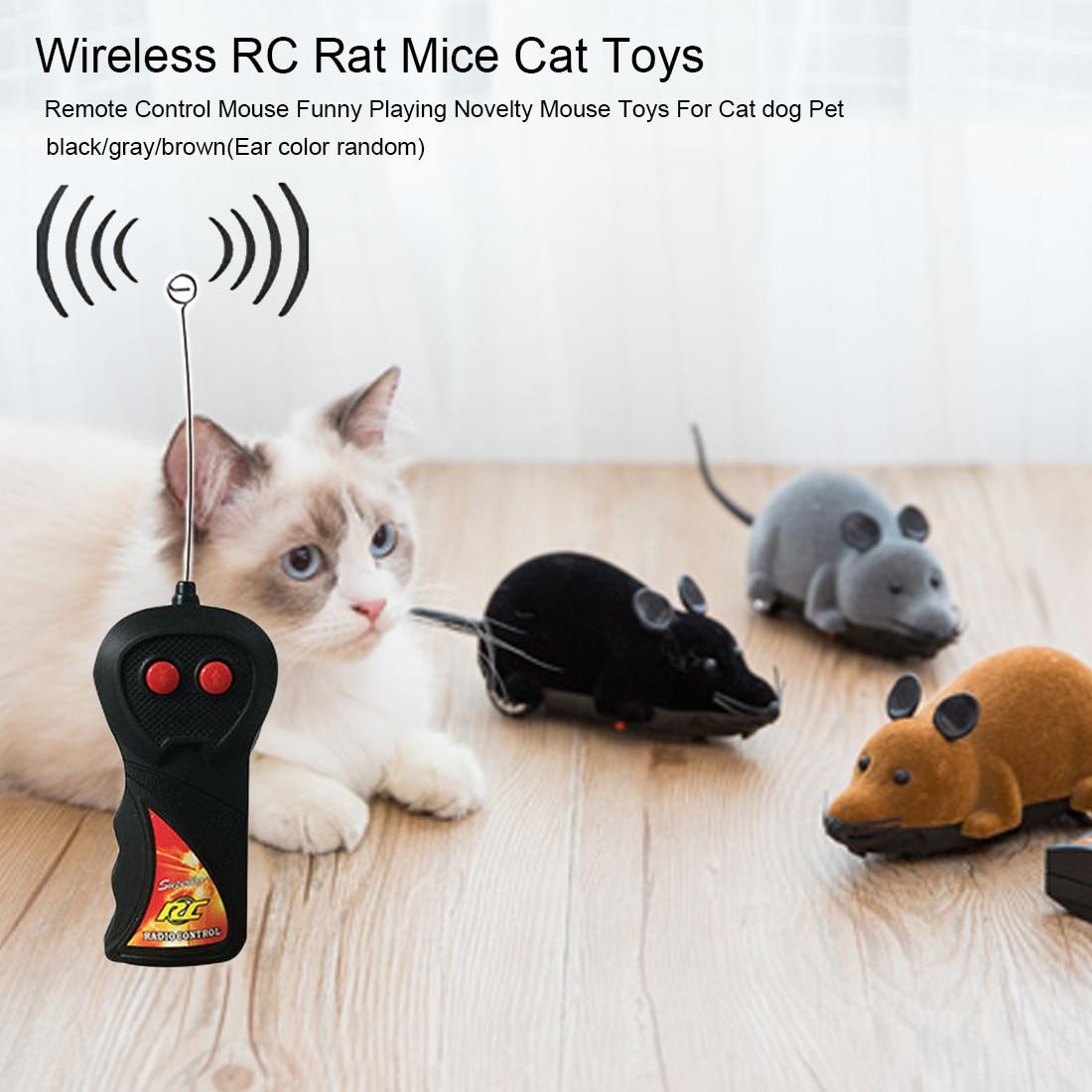 Control remoto inalámbrico RC electrónico rata juguetes para gatos graciosos juguete para gatos de simulación del producto para mascotas ratón ratones de juguete de gato para gato
