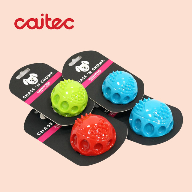 Durable Floatable Springy Squeaking Bouncing Ball - Bite Resistant for Small to Large Dogs 4