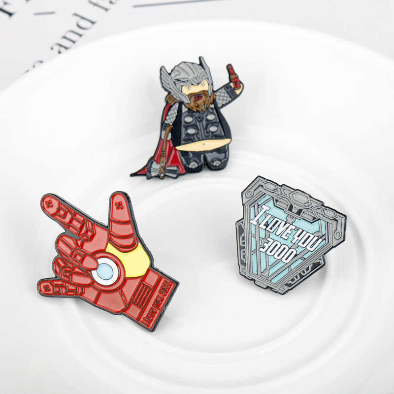 Avengers Endgame Thanos Infinity Gauntle Bros Spiderman Deadpool Iron Man Kapten Amerika Marvel Bros Enamel Pin