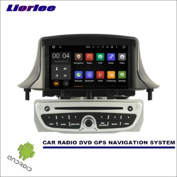 Liorlee Car Multimedia Navigation For Renault Megane III 2008-2016 CD DVD GPS Player Navi Radio Stereo Screen Wince/Android image