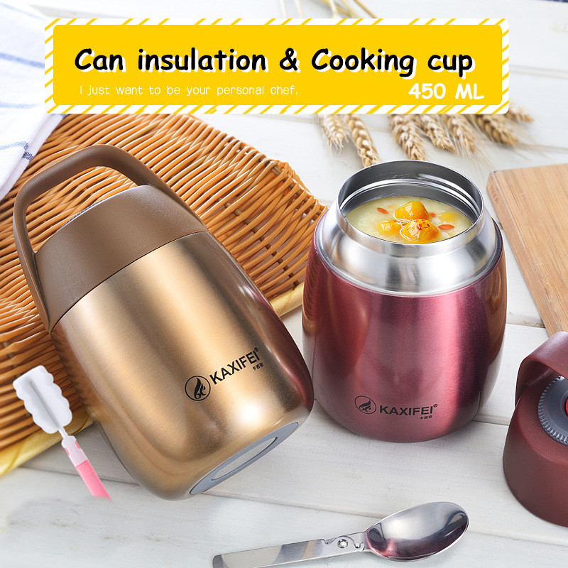 450ML Stew Food Container Vacuum Insulated Stainless Steel Thermal Kitchen Lunch Box For Food&Soup Container Thermos Food Jar