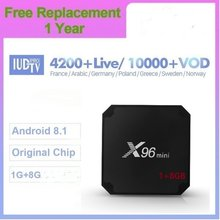 IUDTV PRO 4K IPTV Arabisch Frankrijk Italië Android 7.1 X96mini S905W 1G/8G H.265 Smart IP TV Abonnement Franse Portugal Turkije(China)