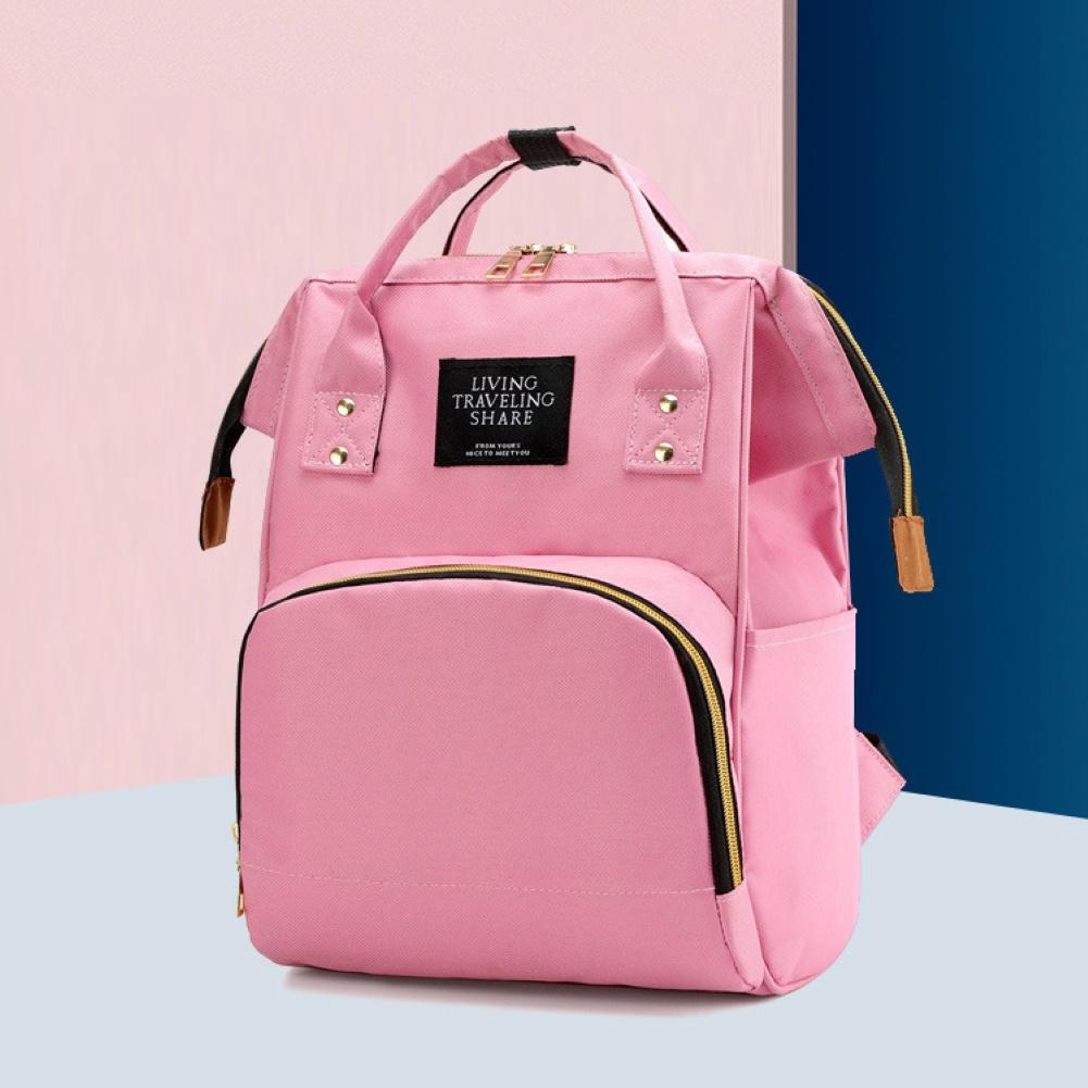 Waterproof Zipper Travel Mommy Backpack Casual Baby Nursing Nappy Bag Handbag Oxford Cloth Material Practical And Durable Gifts