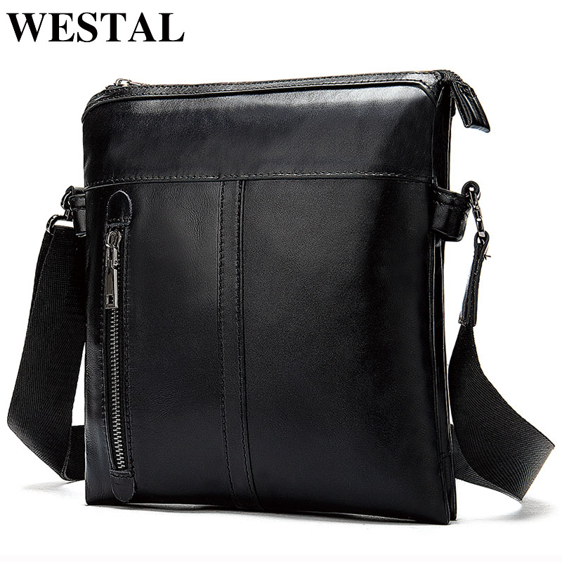 Westal Men's Shoulder Bag For Men Male Solid Messenger Crossbody Bag Casual Men's Bags Flaps Zipper Handbag Designer Shouler Bag