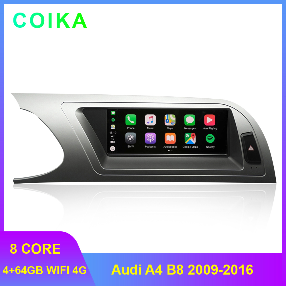 8.8 Car Head Unit For For Audi A4 B8 2009-2016 Android 9.0 System WIFI Google IPS Touch Screen Stereo Carplay 4G LTE 4+64G RAM image