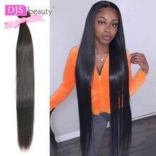 30 32 36 40 pulgada cabello liso mechones largo indio extensiones de pelo ondulado mechones 100% extensiones de pelo humano Color Natural cabello Remy