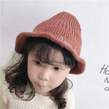 Korea Handmade Knit Solid Witch Skullies Beanies Hats Caps Fall Winter for Kids Children Girls Boy Accessories-OZKHFW010C5