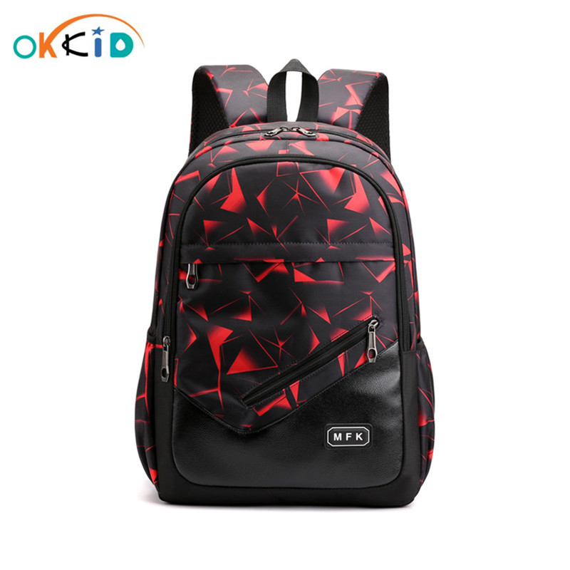 OKKID School Bags For Girls Camouflage Book Bag Student Waterproof Sports Backpack School Backpack For Teenage Boys Dropshipping