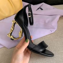 Женские босоножки на высоком каблуке черные или бежевые вечерние
