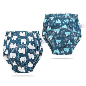 Training-Pants 2-Packaged Bars Gauze Baby-Products The-Shape Washable of 6-Layer Pure-Cotton