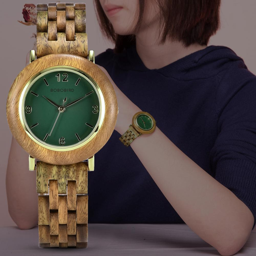 Zegarek Damski BOBO BIRD Light Wood Watches Women Reloj De Mujer Wrist Watch Clock Anniversary Gift For Her Dropshipping