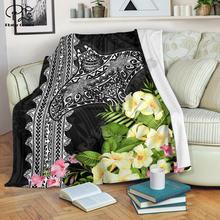 Мантарей с цветами Гибискус 3d печатным шерпа одеяло на кровать