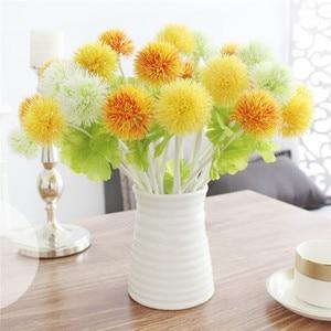 1 шт. искусственный цветок одуванчика 5 цветов декоративные поддельные цветы Трава шар растения для свадьбы украшения дома сада Цветочные
