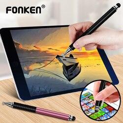 Uniwersalny długopis Stylus 2 w 1 do telefonu Tablet dotykowy pióro rysunek ekran pojemnościowy Caneta ołówek do smartfona Smart Android długopisy