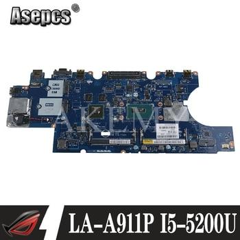 For DELL Latitude E5550 Laptop Motherboard I5-5200U CPU LA-A911P CN-0M5HV7 0M5HV7 M5HV7 Tested 100% work