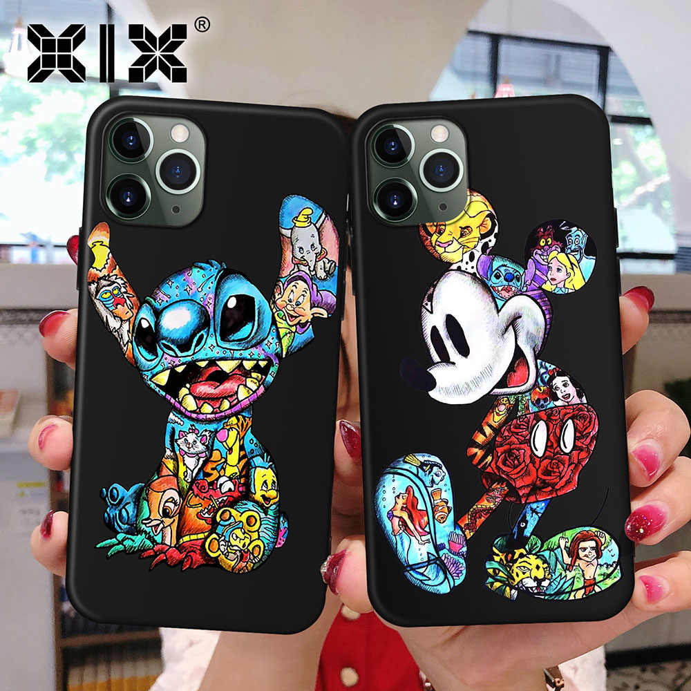 XIX para Funda iPhone 11 Pro Funda 5 5S 6 6S 7 8 Plus X XS Max tatuaje dibujos animados para Funda iPhone 7 Funda TPU suave para iPhone XR