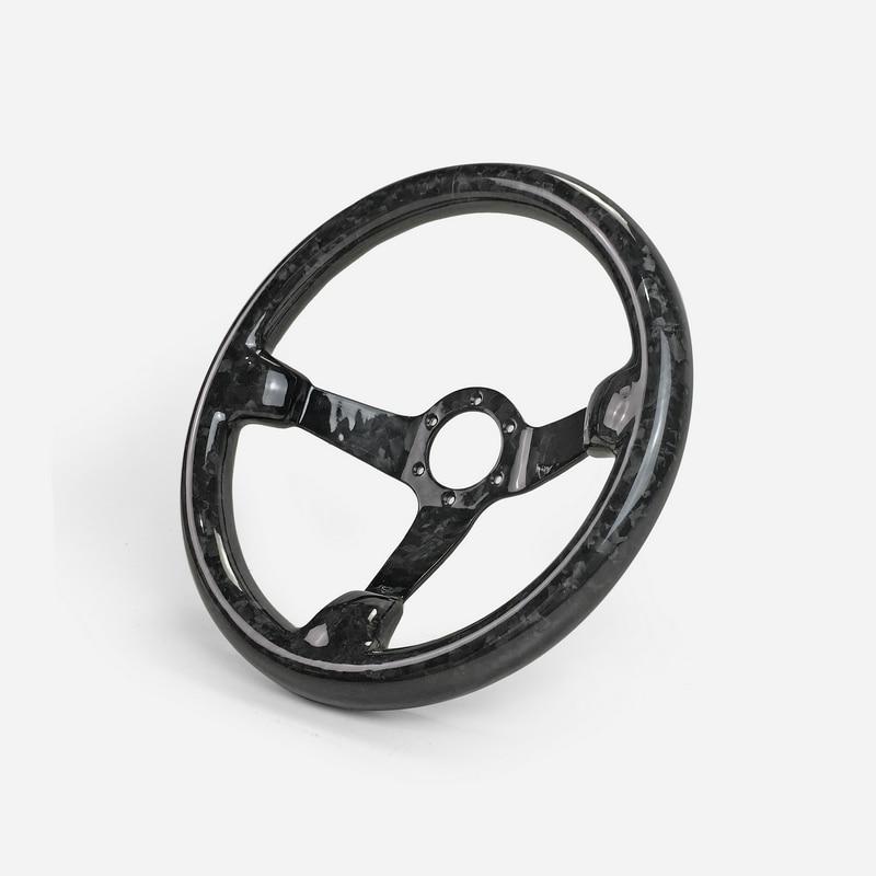 العالمي صالح لامع إنهاء مزورة الكربون طبق عميق نوع عجلة القيادة (335 مللي متر القطر ، عميق حوالي 60 مللي متر ، 6 مسامير 70 مللي متر PCD)