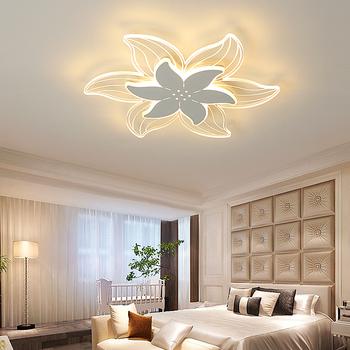 Nowoczesne lampy sufitowe LED kreatywne lampy led do montażu podtynkowego oświetlenie domu do salonu balkon do sypialni badania lampy sufitowe białe tanie i dobre opinie VeiHao 20 Metrów 10-15square Kuchnia Jadalnia Łóżko pokój Foyer ROHS 90-260 v Klin Ironware + Akryl Pilot zdalnego sterowania